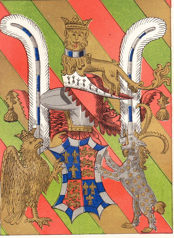The 'achievement' involved in this family crest was apparently subduing a badger with nothing more than a couple of ostrich feathers.