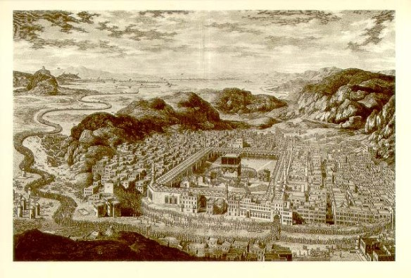 Makkah as it was in 1850, before the real estate developers moved in
